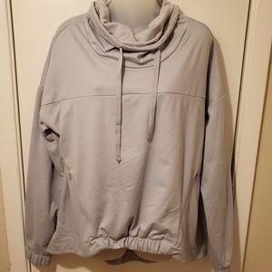 Fabletics Gray Europa Cowl Neck Pullover Sweater